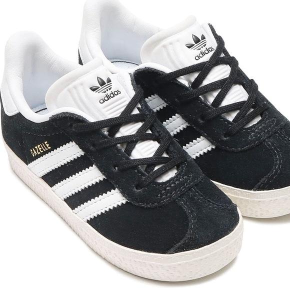 Adidas Gazelle Kids Black Suede Sneaker